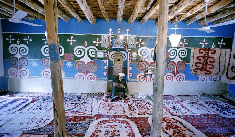 The Akhoun of one of the painted mosques in Jagalan.
